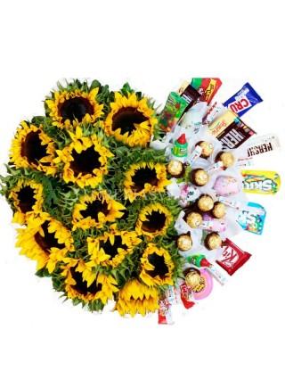 Flores arreglo Puebla Exquisito sol de amor