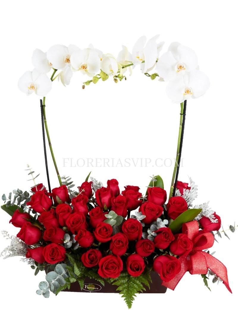 Flores arreglo Puebla Rojo vivo, rojo amor