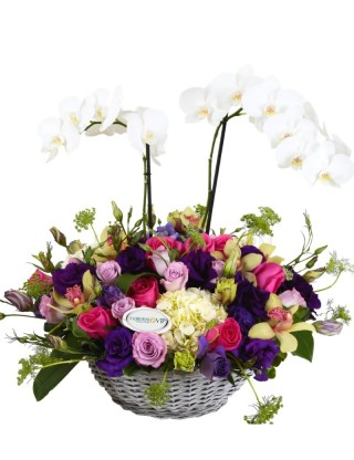 Flowers Arrangement Puebla Love basket