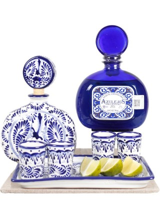 Basket Gourmet Elegance, talavera and tequila
