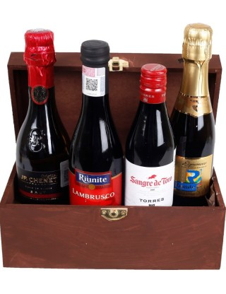 Basket Gourmet Selection of wines in chest