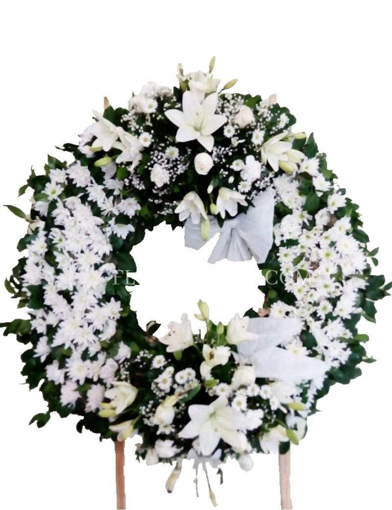 Condolences Funeral Wreath Souvenir