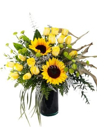 Flores arreglos Radiante atardecer