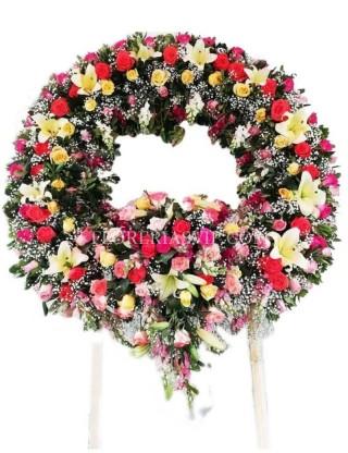 Funeral condolence wreath