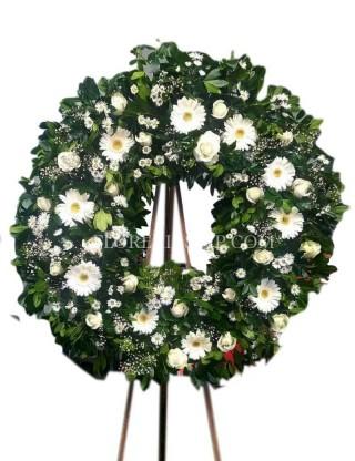 Funeral wreath of faith